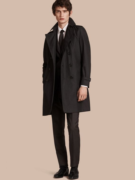 The Chelsea – Cotton Gabardine Trench Coat Mercury