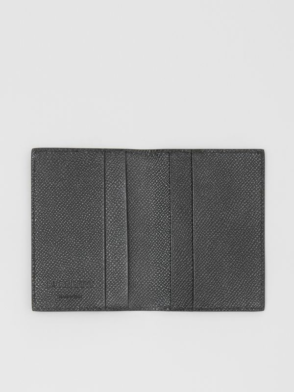 Grainy Leather Bifold Card Case in Black - Men | Burberry Canada - cell image 2