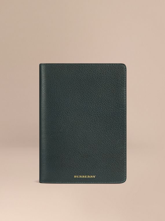 Grainy Leather iPad Mini Case Dark Forest Green