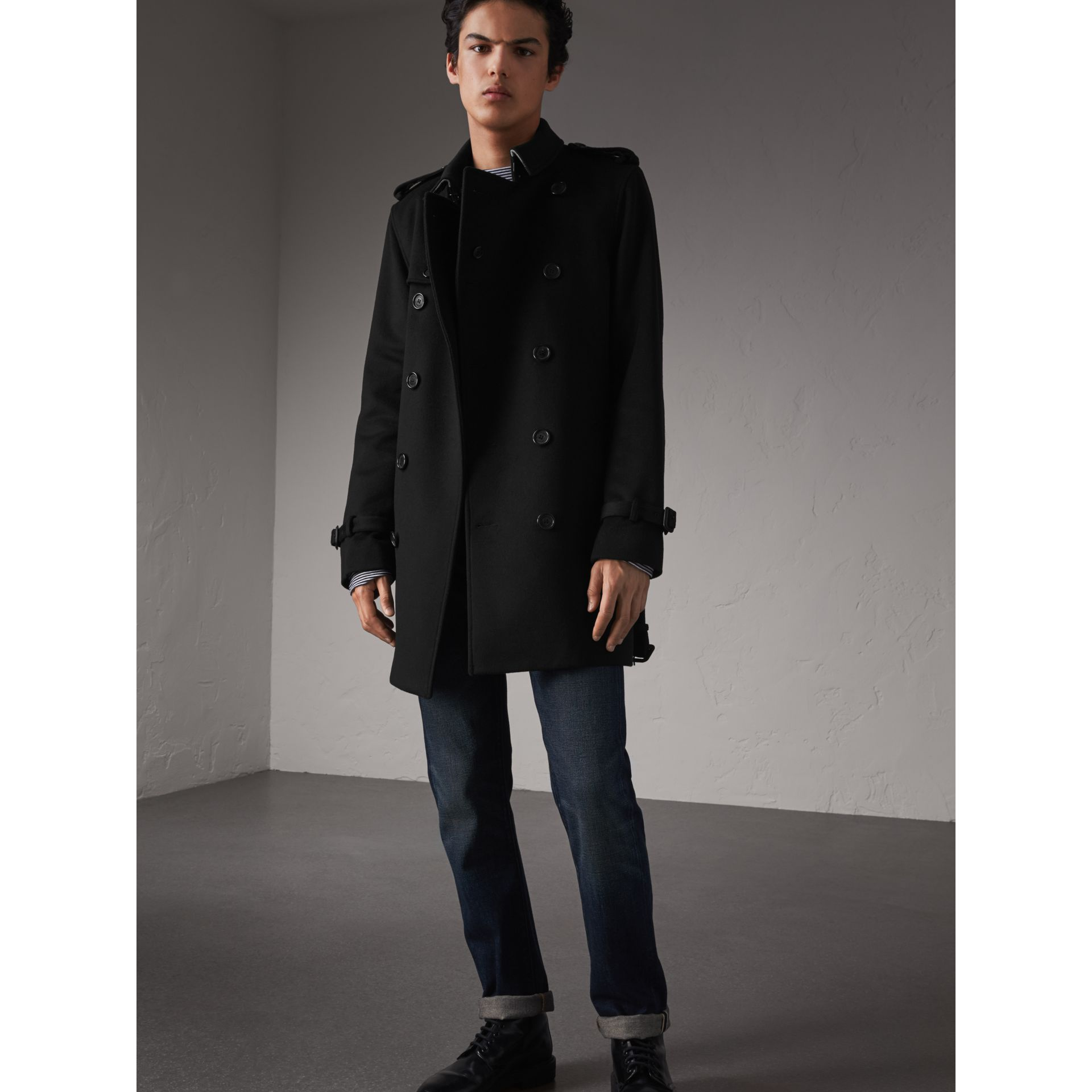 Wool Cashmere Trench Coat - Men   Burberry - gallery image 1