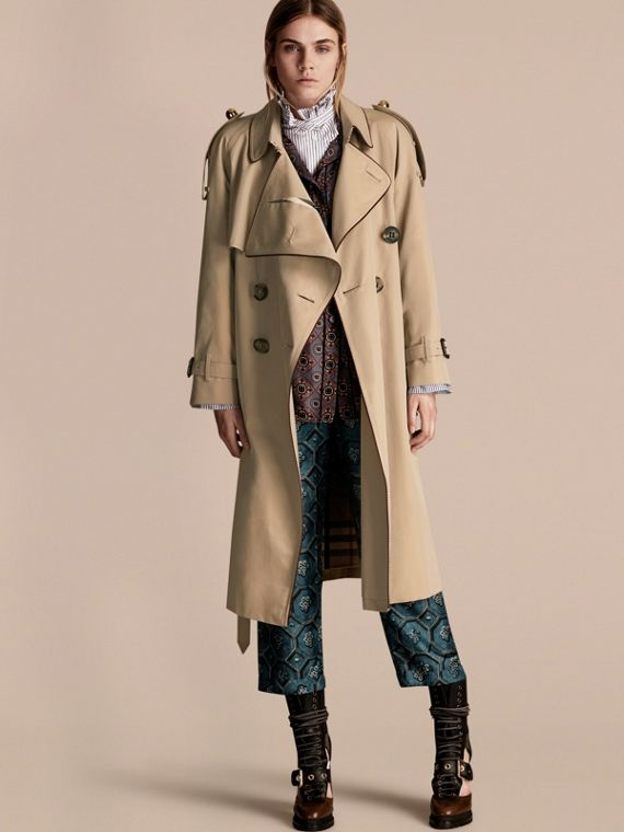 Deconstructed Trench Coat with Regimental Piping