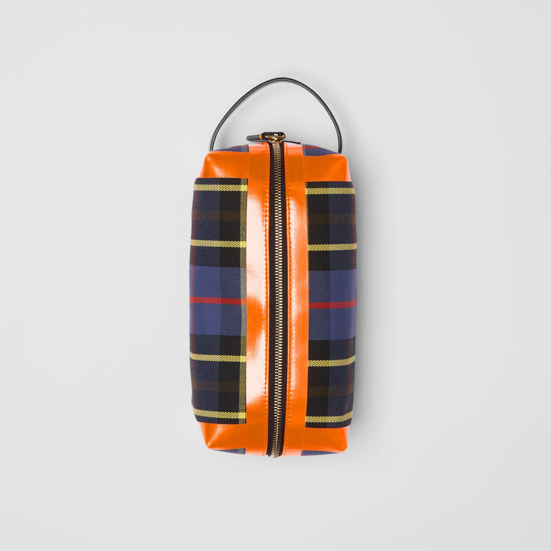 Tartan Cotton Pouch in Cobalt | Burberry - gallery image 0