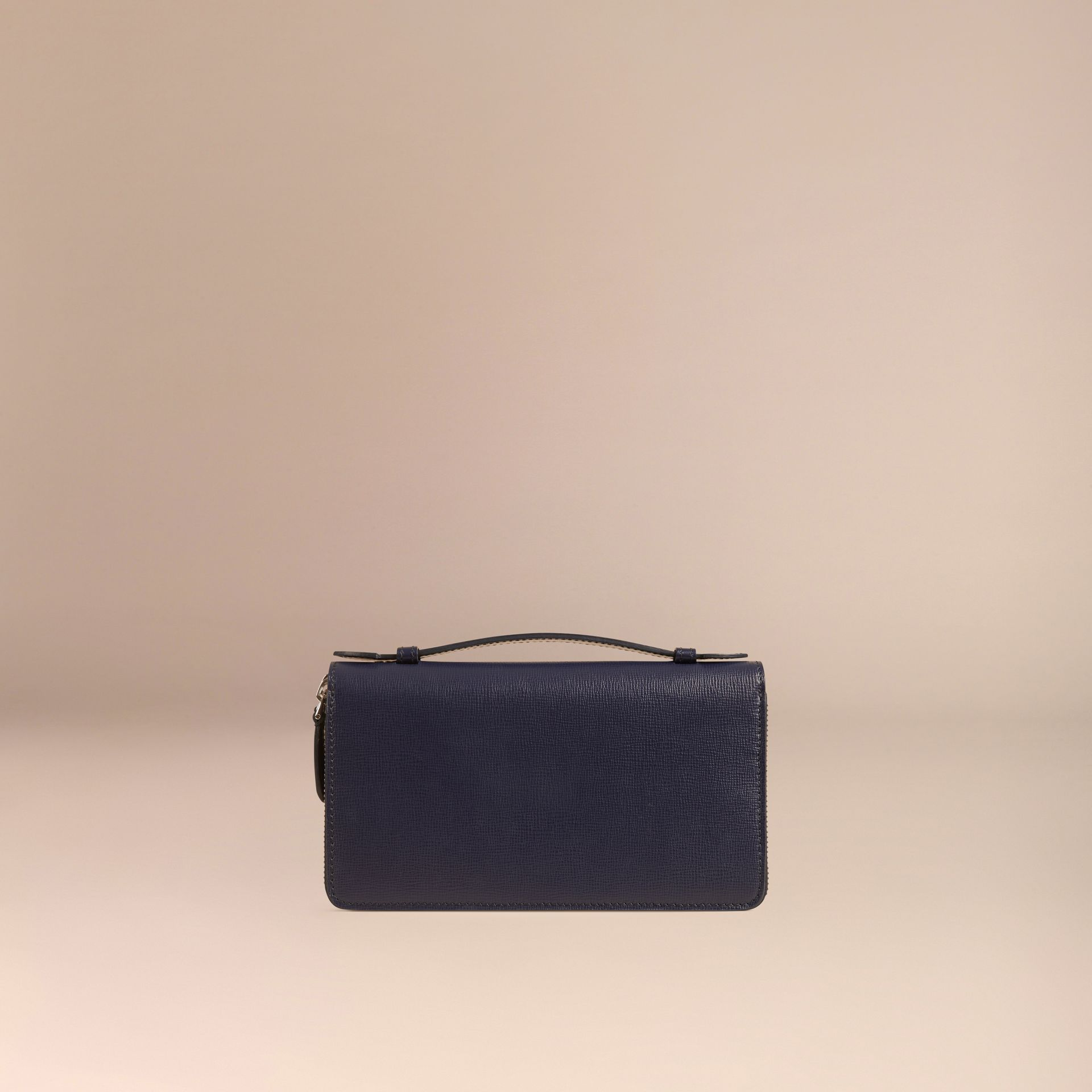London Leather Travel Wallet in Dark Navy - Men | Burberry Singapore - gallery image 4
