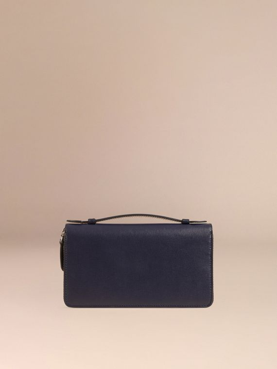 London Leather Travel Wallet in Dark Navy - Men | Burberry Singapore - cell image 3