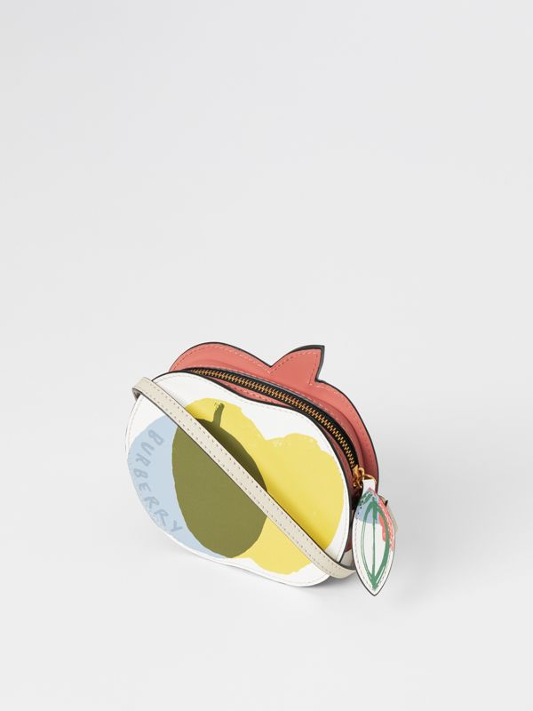 Apple Print Leather Crossbody Bag in Multicolour - Children | Burberry - cell image 2