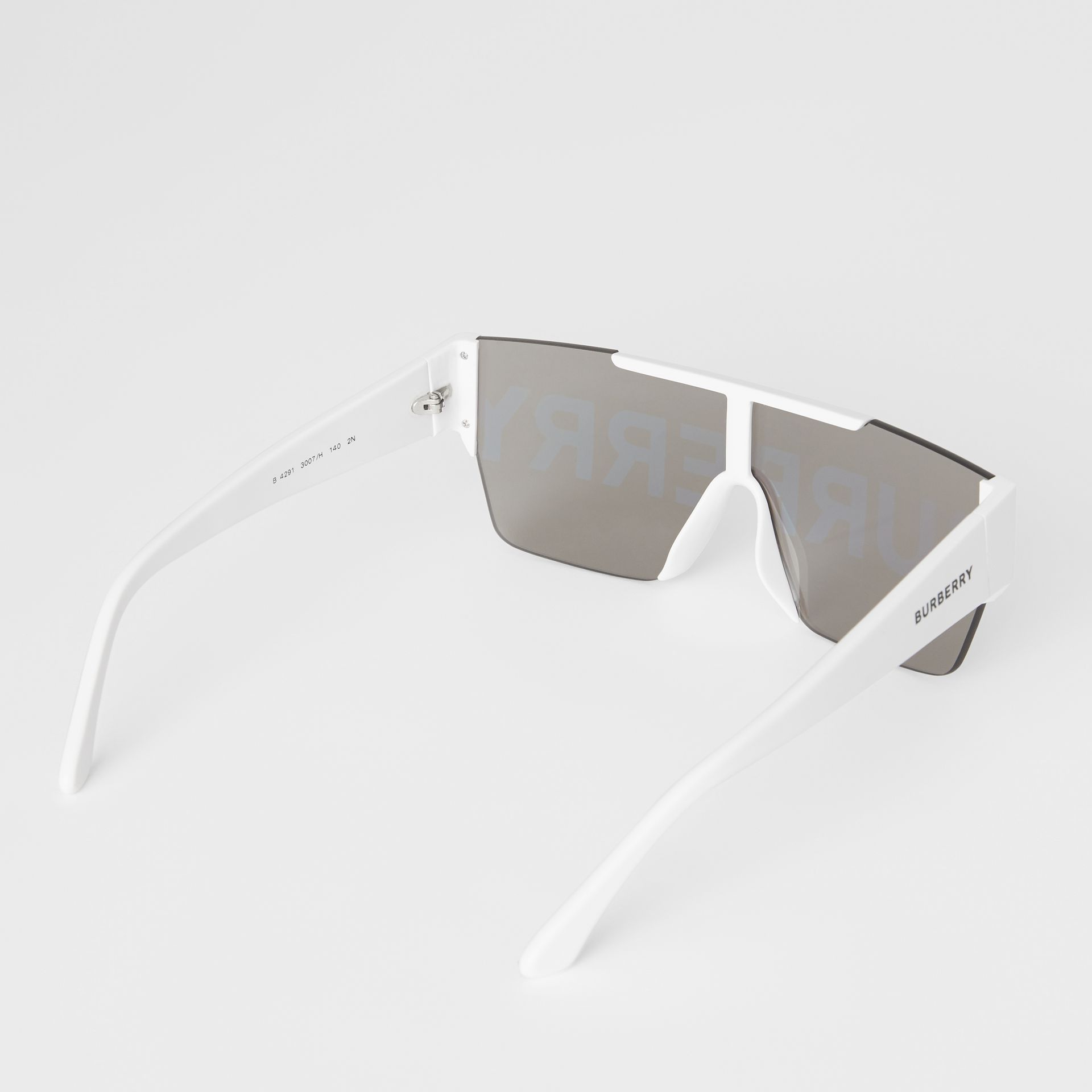 Logo Lens D-frame Sunglasses in White | Burberry - gallery image 4