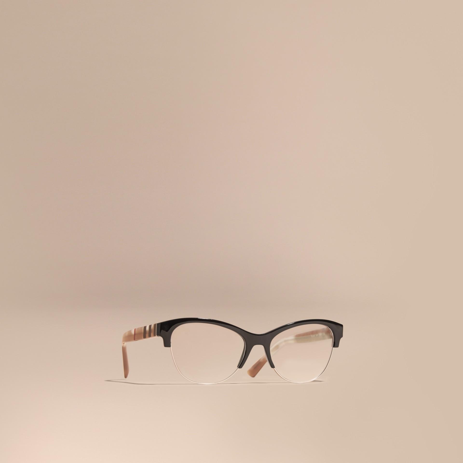 Half-rimmed Cat-eye Optical Frames Black Burberry Canada