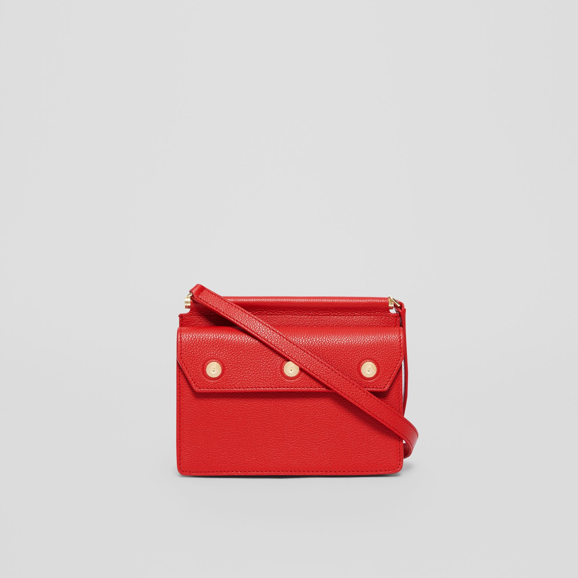 Mini Leather Title Bag with Pocket Detail in Bright Military Red - Women | Burberry Singapore - gallery image 7