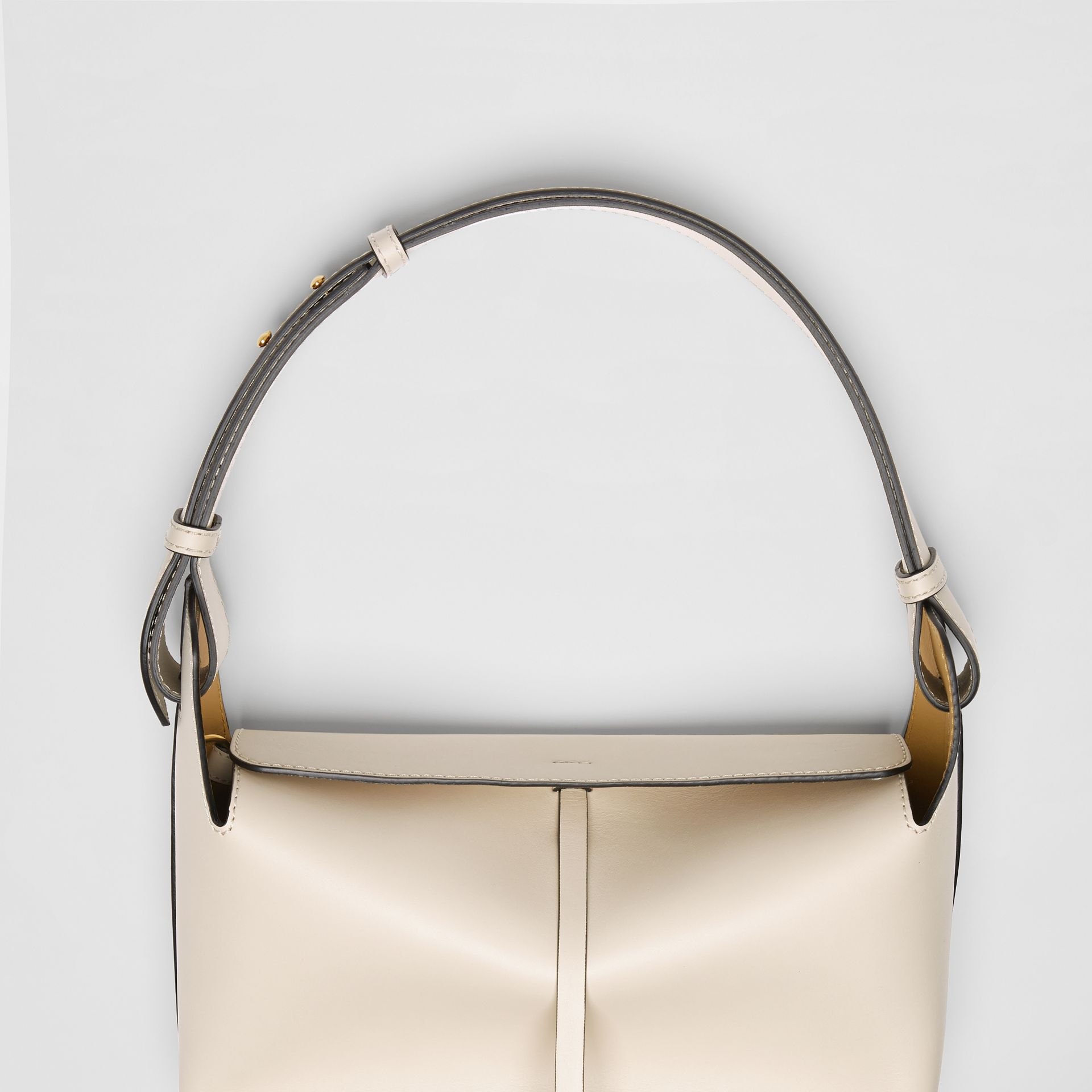 The Medium Leather Bucket Bag in Limestone - Women | Burberry - gallery image 1