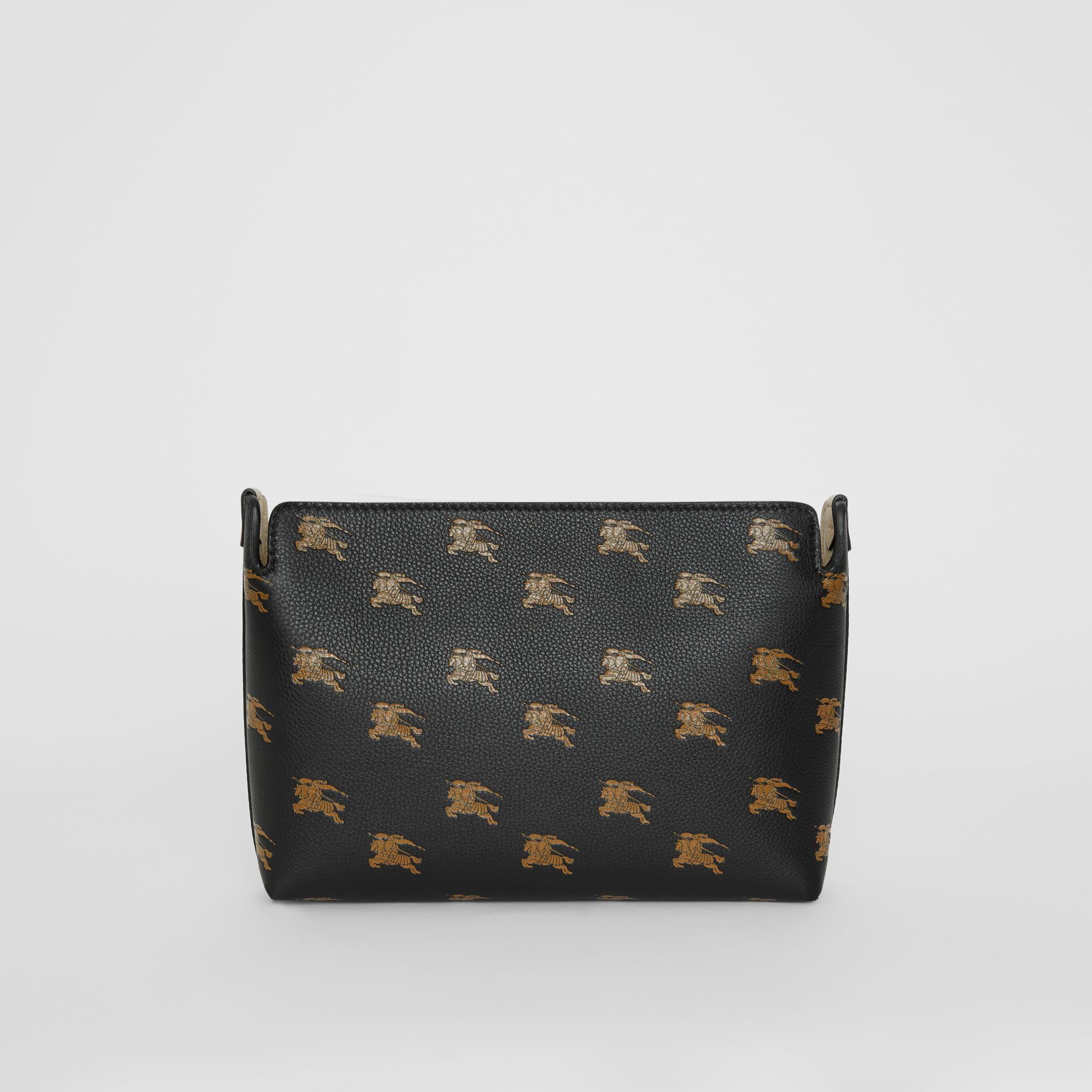 Medium Equestrian Knight Leather Clutch in Black - Women | Burberry United Kingdom - gallery image 7