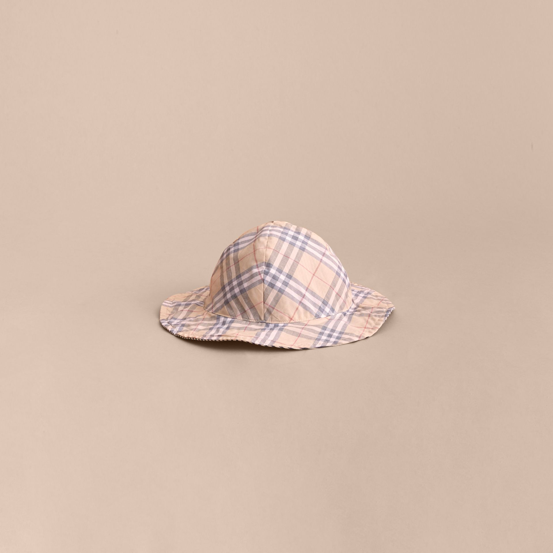 Reversible Stripe and Check Sun Hat | Burberry - gallery image 3