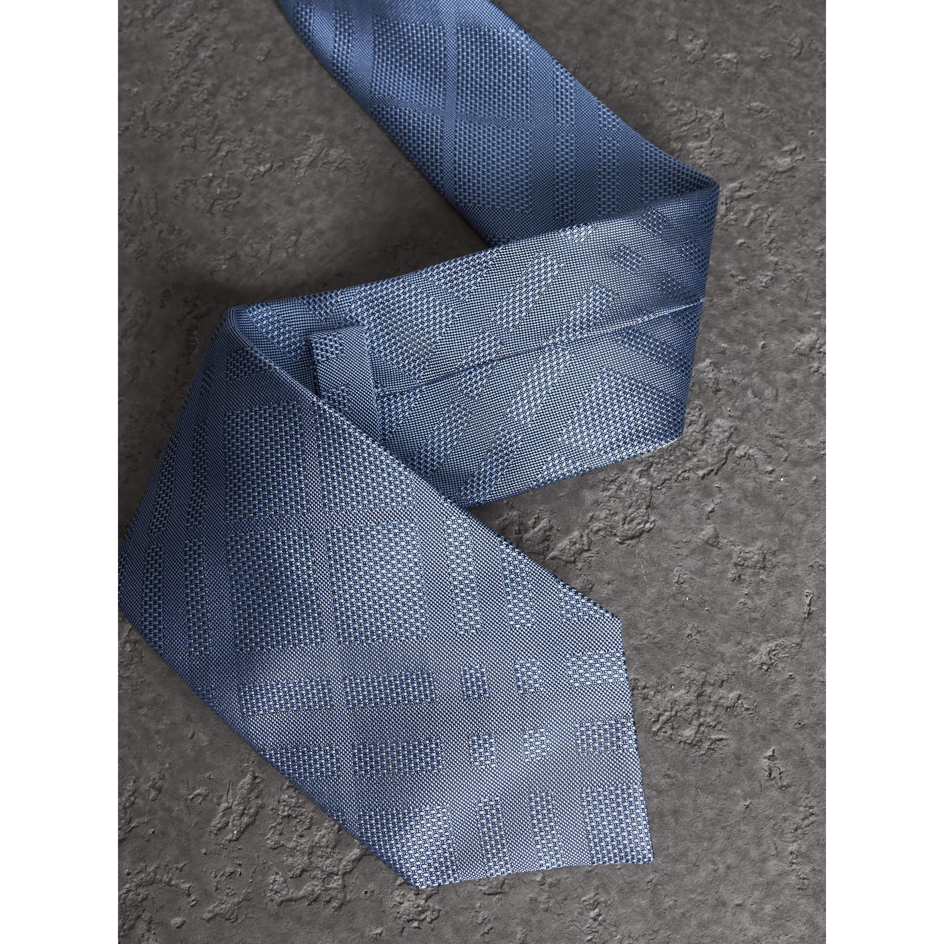 Classic Cut Check Silk Jacquard Tie in Sky Blue - Men | Burberry United States - gallery image 1
