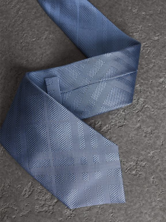 Classic Cut Check Silk Jacquard Tie in Sky Blue - Men | Burberry United States - cell image 1
