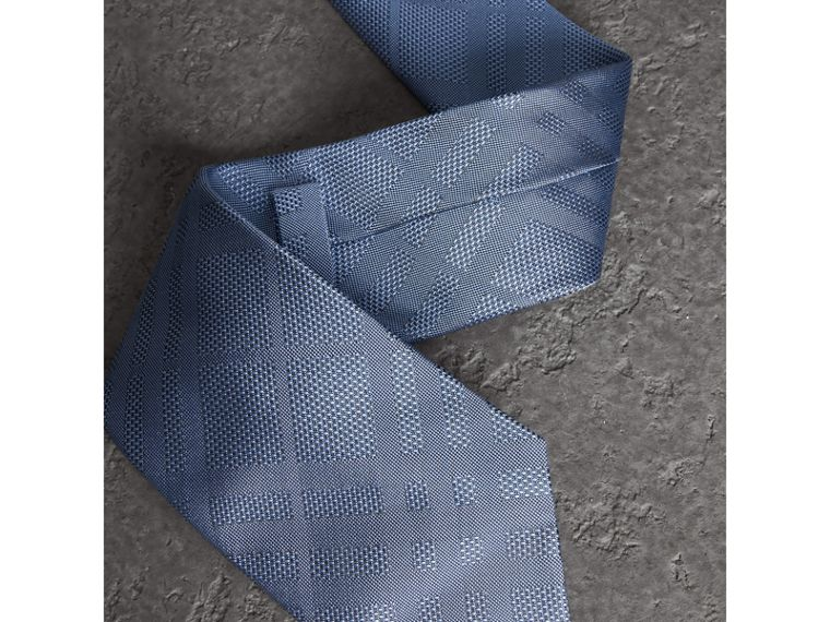 Classic Cut Check Silk Jacquard Tie in Sky Blue - Men   Burberry United States - cell image 1