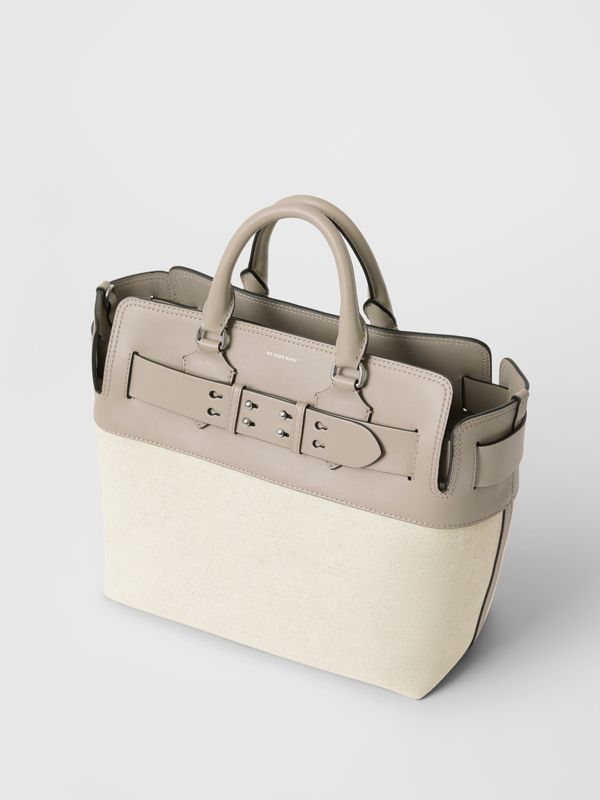 The Medium Canvas and Leather Belt Bag in Grey/stone - Women | Burberry - cell image 2
