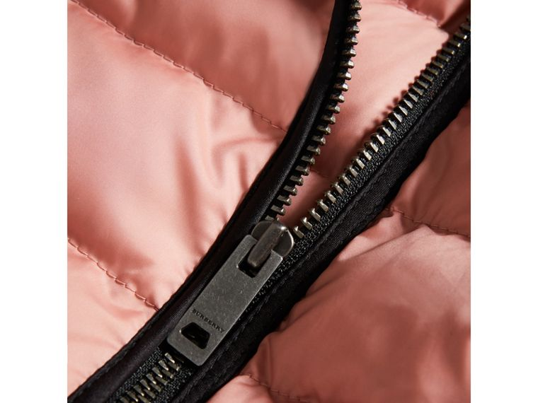 Showerproof Down-filled Jacket in Pale Rose | Burberry - cell image 1
