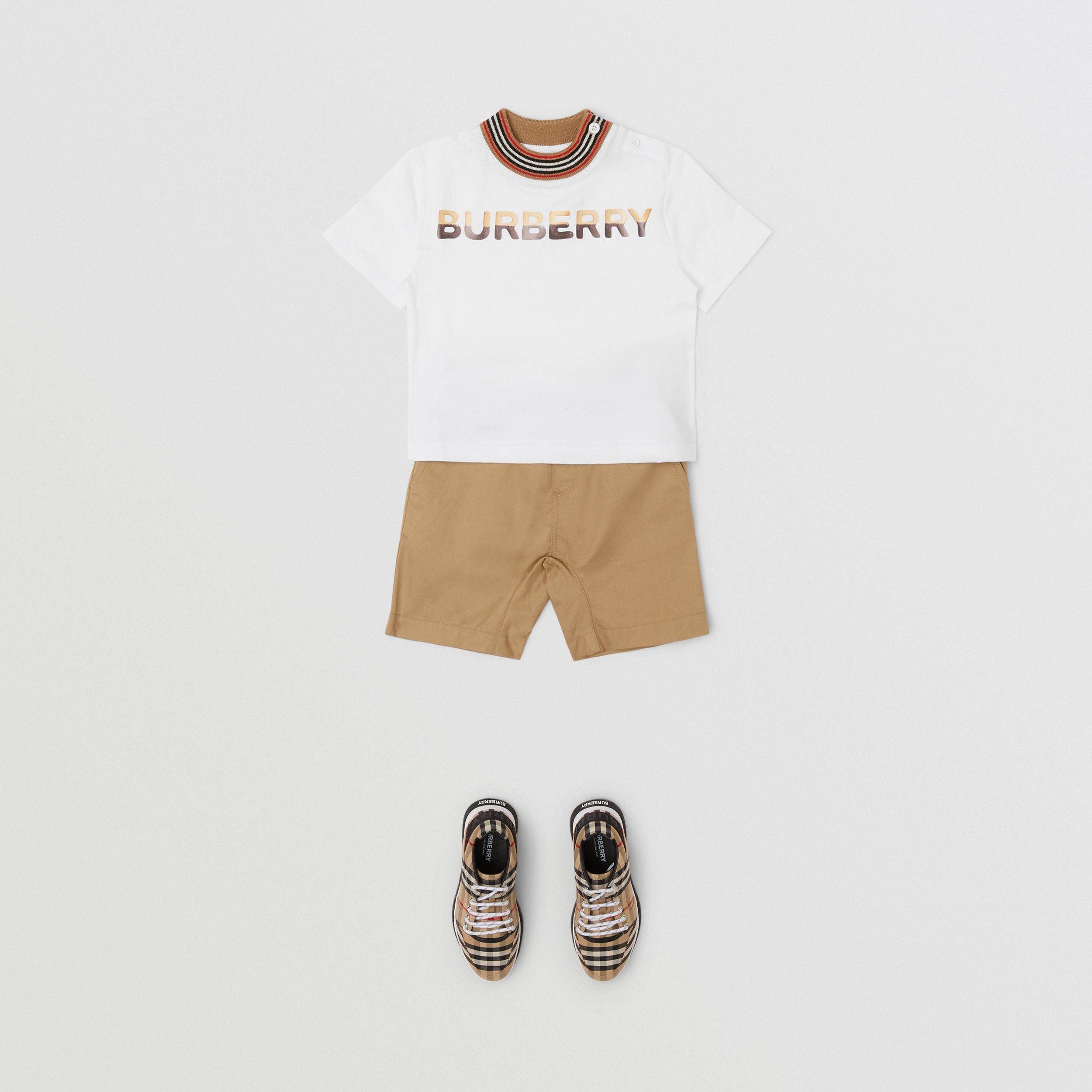 Confectionery Logo Print Cotton T-shirt in White - Children | Burberry - 4
