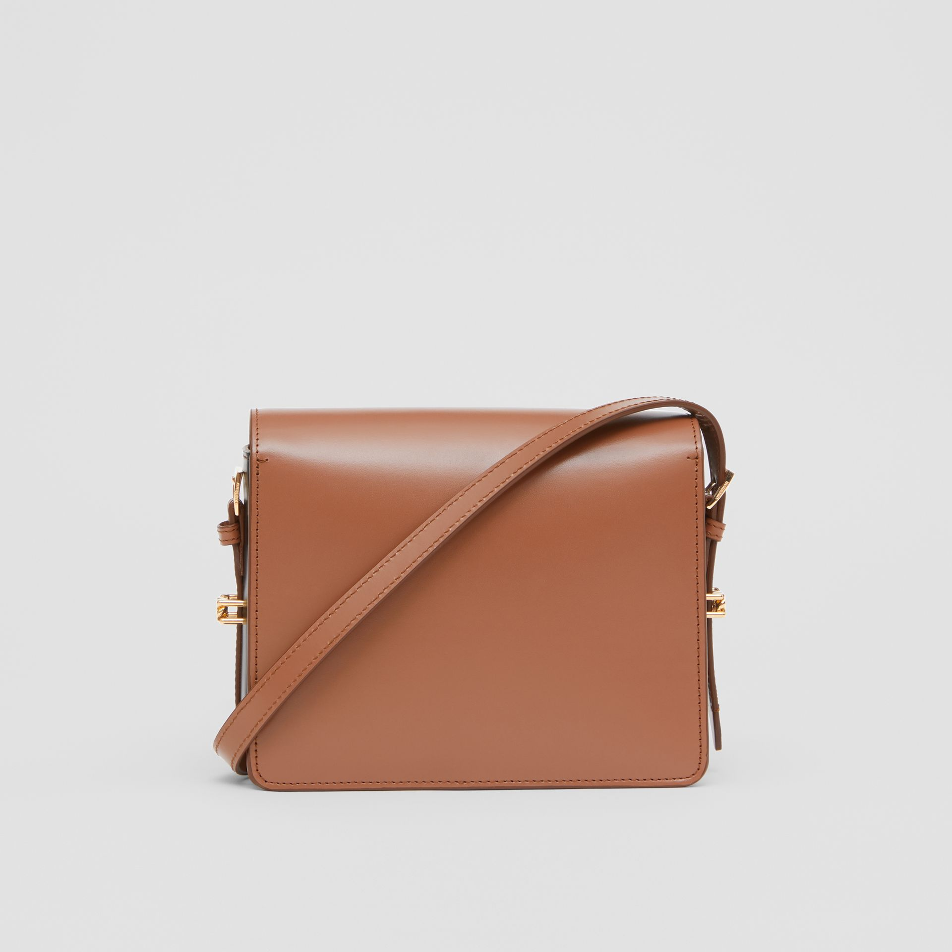 Small Two-tone Leather Grace Bag in Malt Brown/black - Women | Burberry - gallery image 7