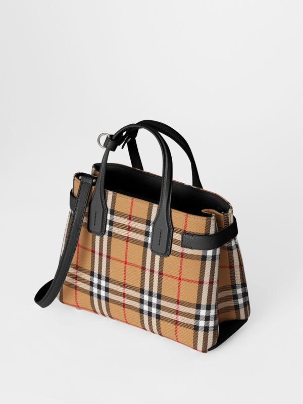 The Small Banner in Vintage Check and Leather in Black - Women | Burberry United Kingdom - cell image 3