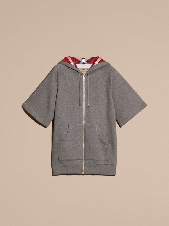 Zip-front Oversize Cotton Jersey Sweatshirt with Hood - cell image 3