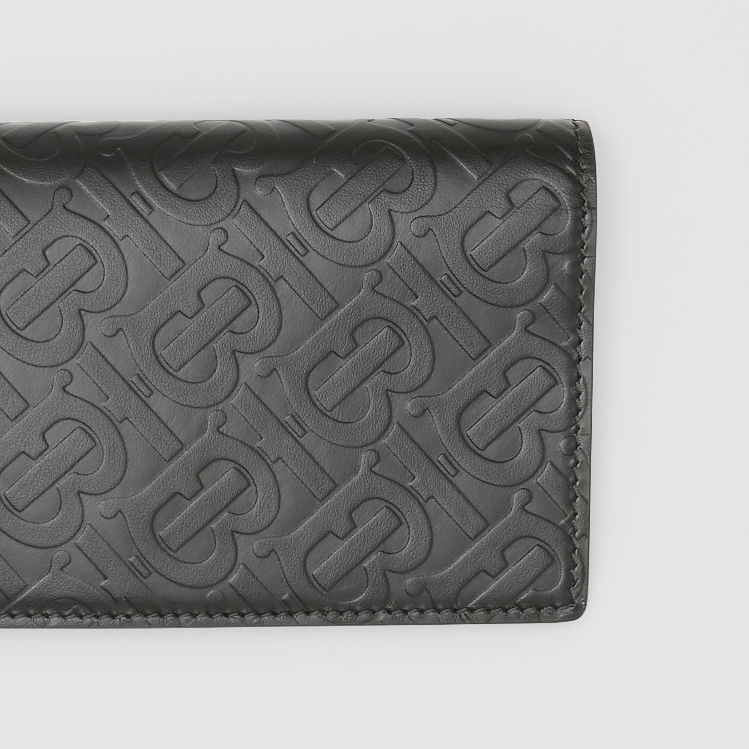 Monogram Leather Continental Wallet in Black | Burberry - 2