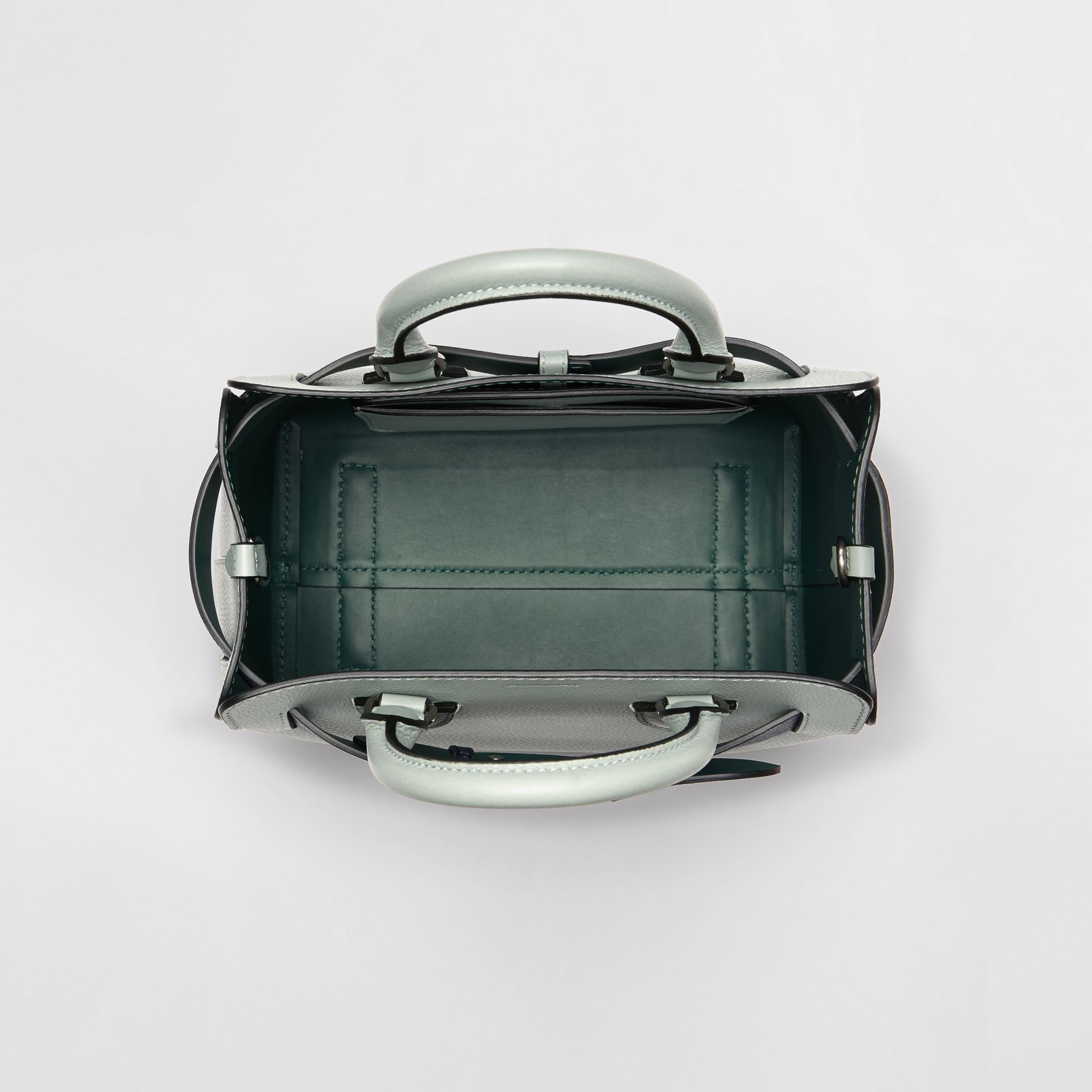 The Small Leather Belt Bag in Grey Blue - Women | Burberry - gallery image 5