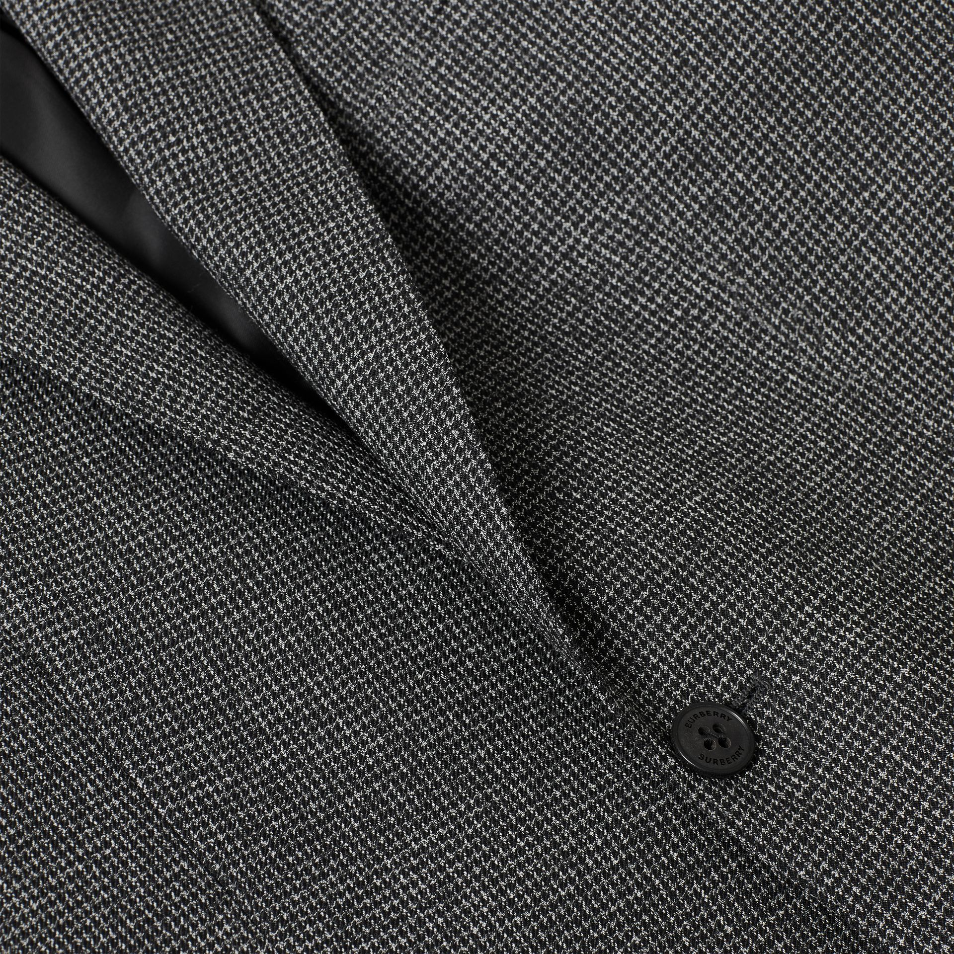 English Fit Puppytooth Check Wool Suit in Charcoal Melange - Men | Burberry - gallery image 8