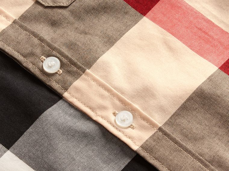 Short-sleeve Check Cotton Shirt in New Classic - Children | Burberry - cell image 1