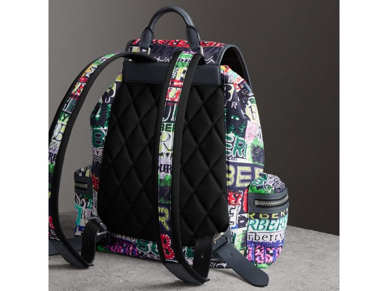 The Large Rucksack in Graffiti Logo Print in Multicolour | Burberry Australia - cell image 4