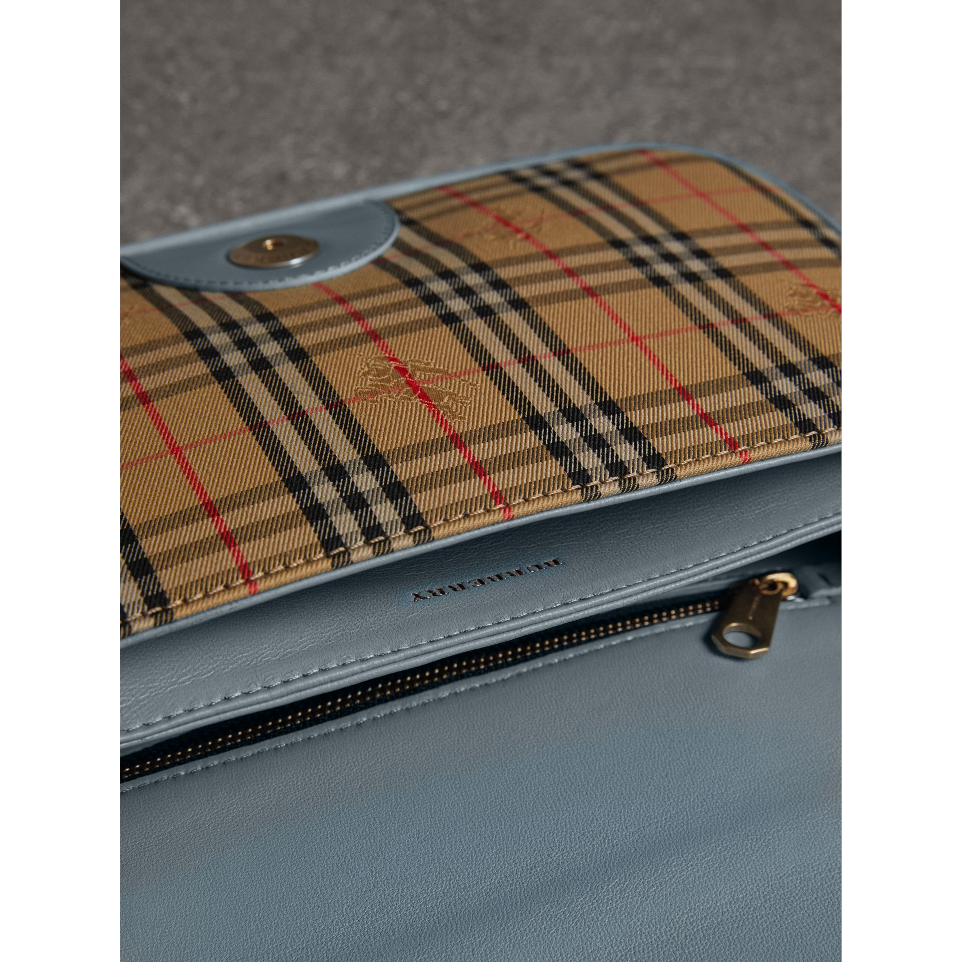 The 1983 Check Link Bag with Patent Trim in Blue Sage - Women | Burberry - gallery image 5