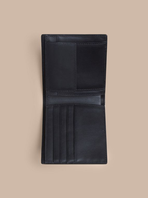 London Check Folding Wallet Chocolate/black - cell image 3