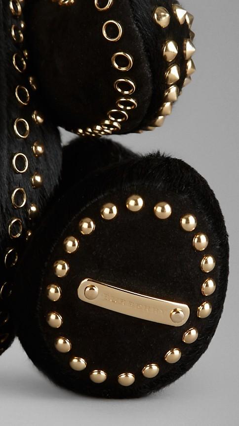 Noir Teddy-bear en vachette à clous - Image 3