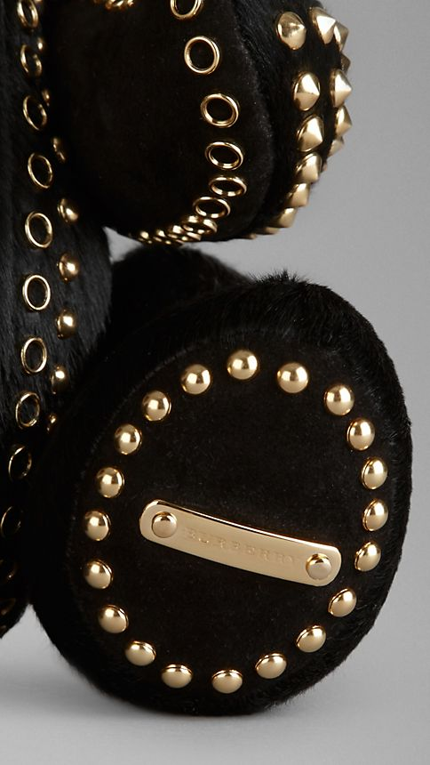 Black Thomas Bear in Studded Calfskin - Image 3