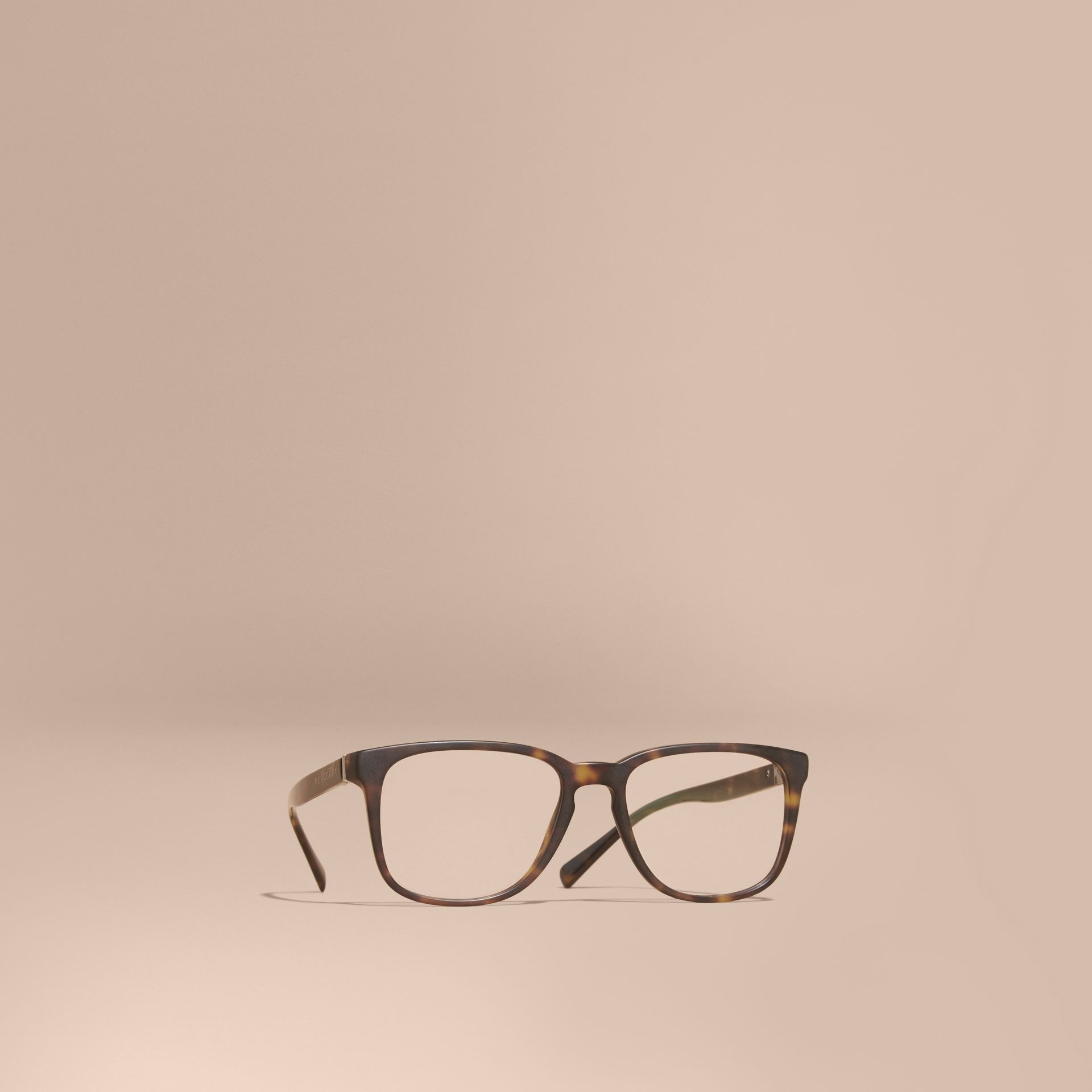 Square Optical Frames Tortoise Shell - gallery image 1
