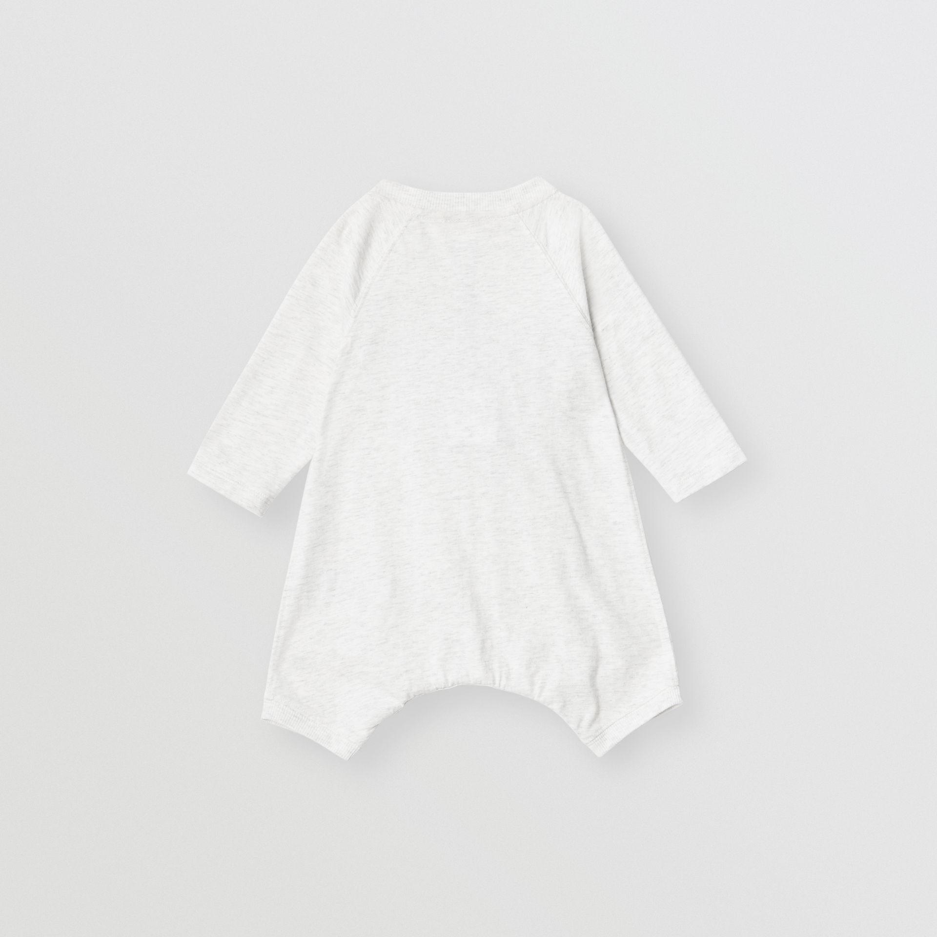 Logo Print Cotton Three-piece Baby Gift Set in White Melange - Children | Burberry - gallery image 3