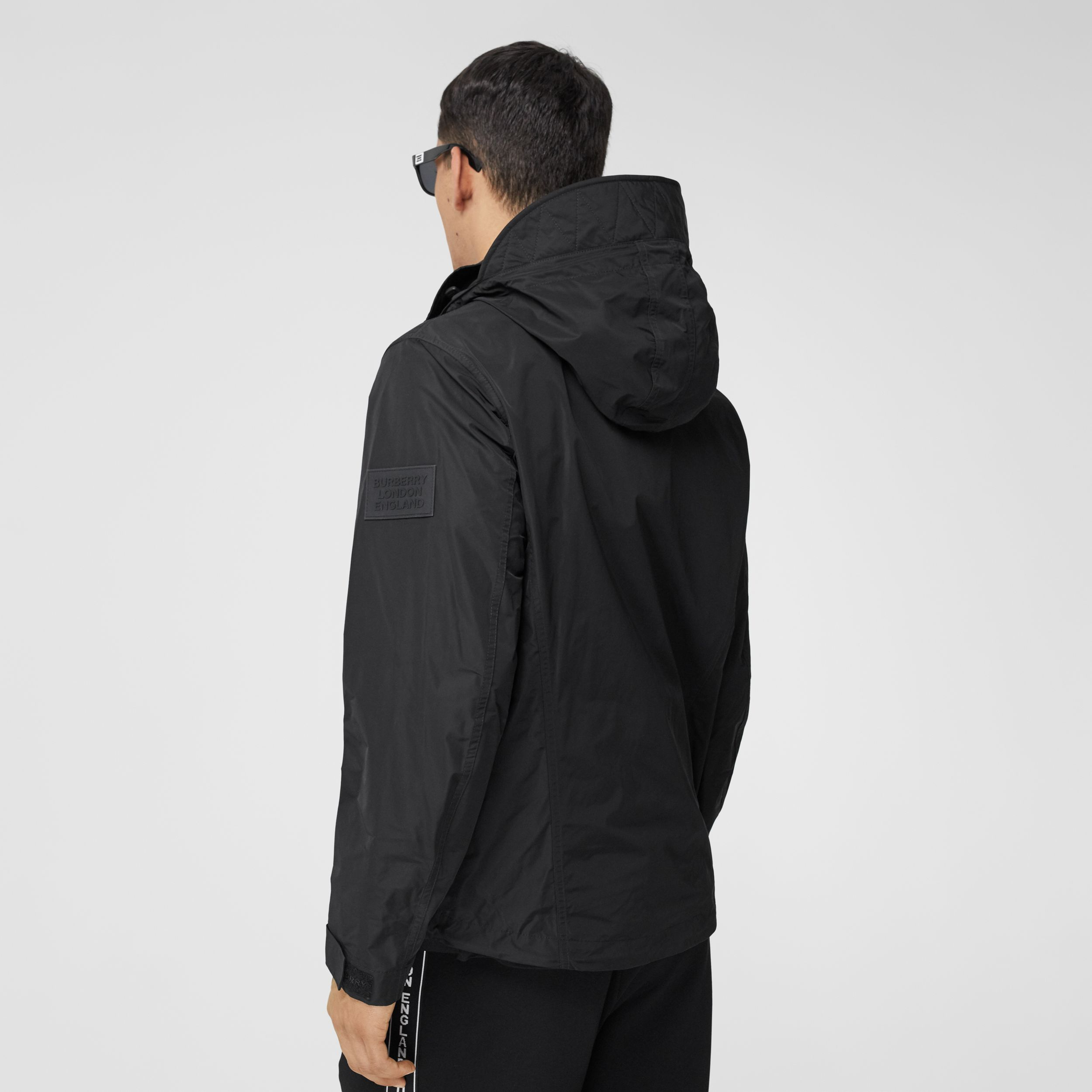 Packaway Hood Shape-memory Taffeta Jacket in Black - Men | Burberry - 3