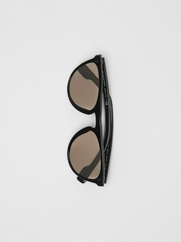 Keyhole D-shaped Sunglasses in Black - Men | Burberry - cell image 3