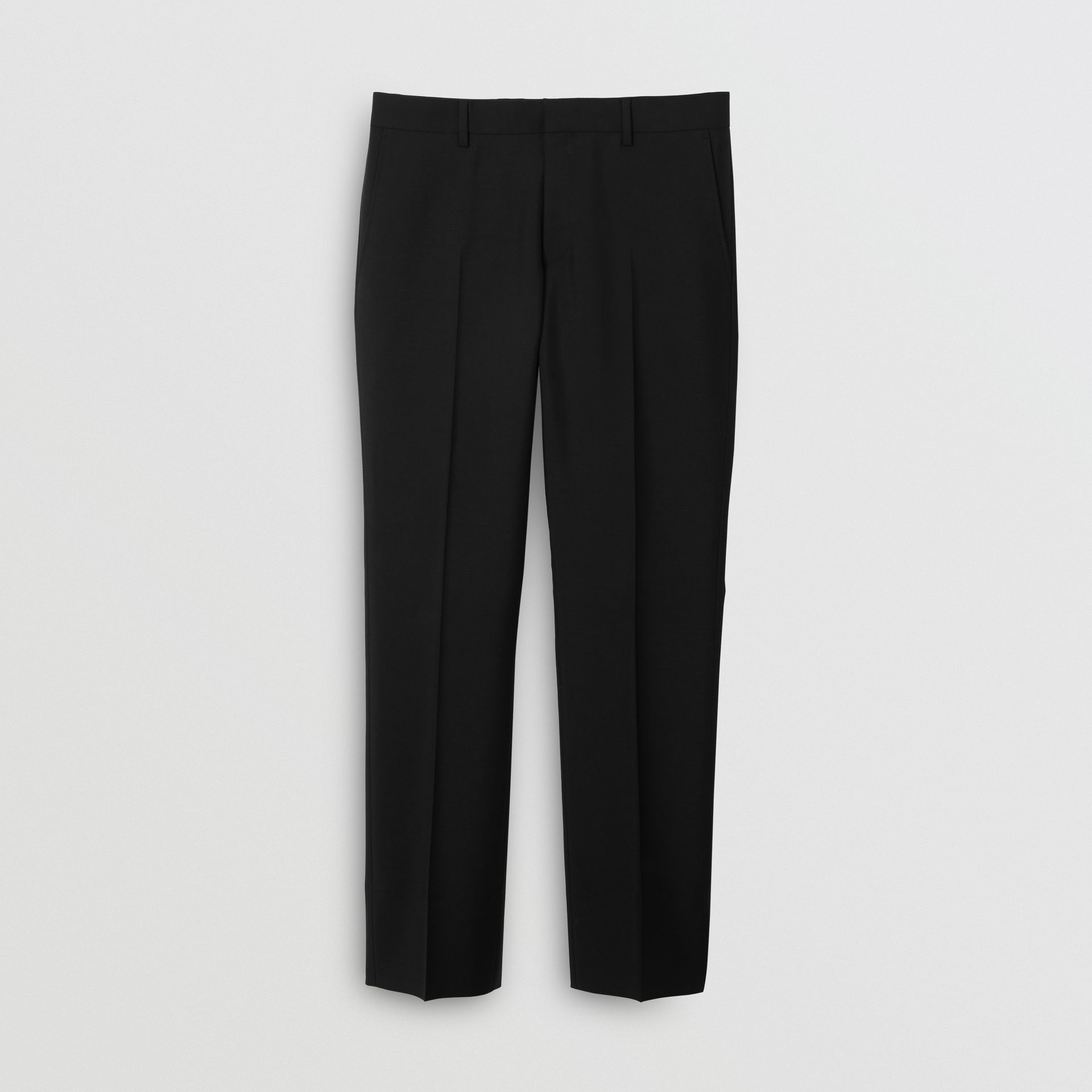 Classic Fit Wool Mohair Tailored Trousers in Black - Men | Burberry United Kingdom - gallery image 3