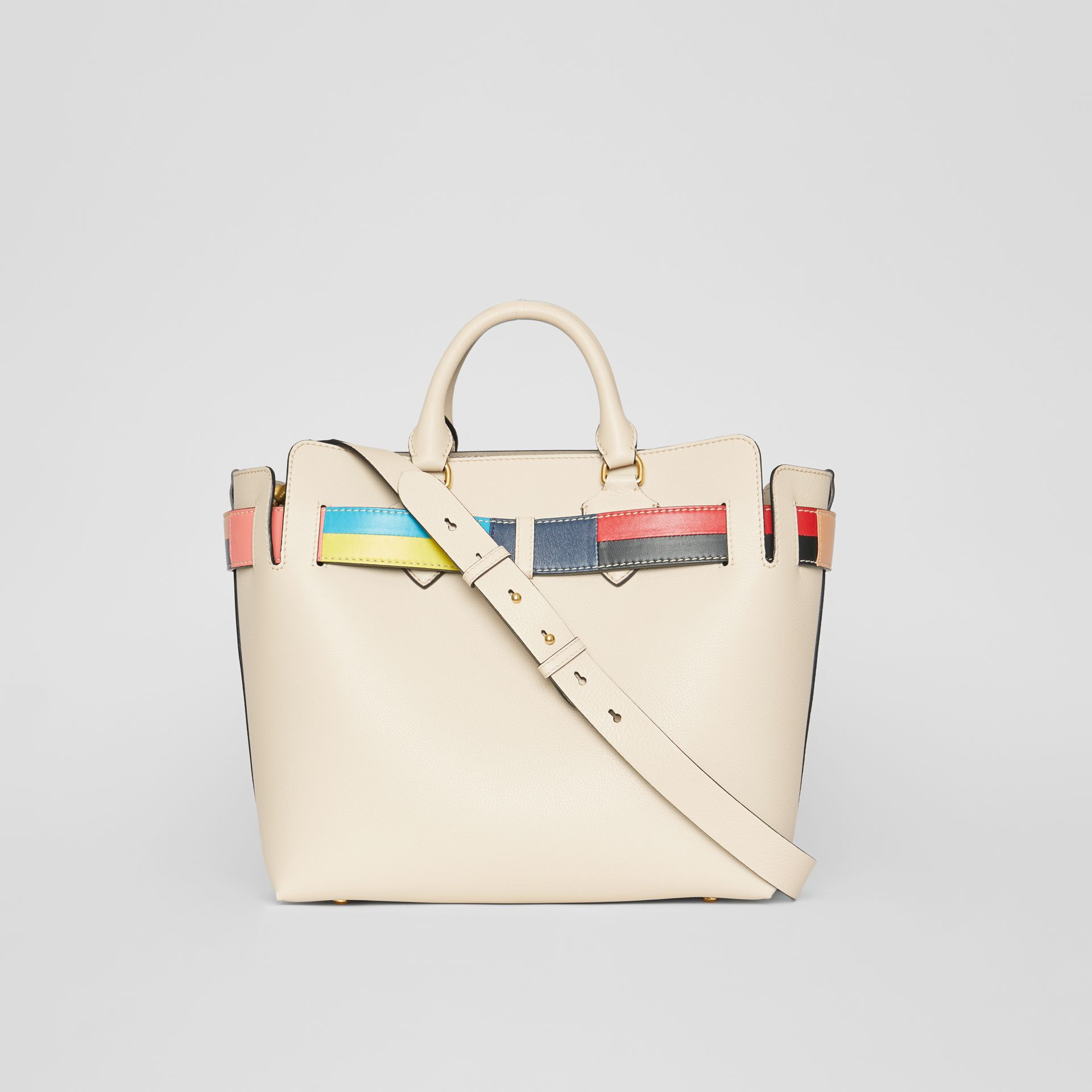 The Medium Leather Colour Block Detail Belt Bag in Limestone - Women | Burberry United Kingdom - gallery image 7