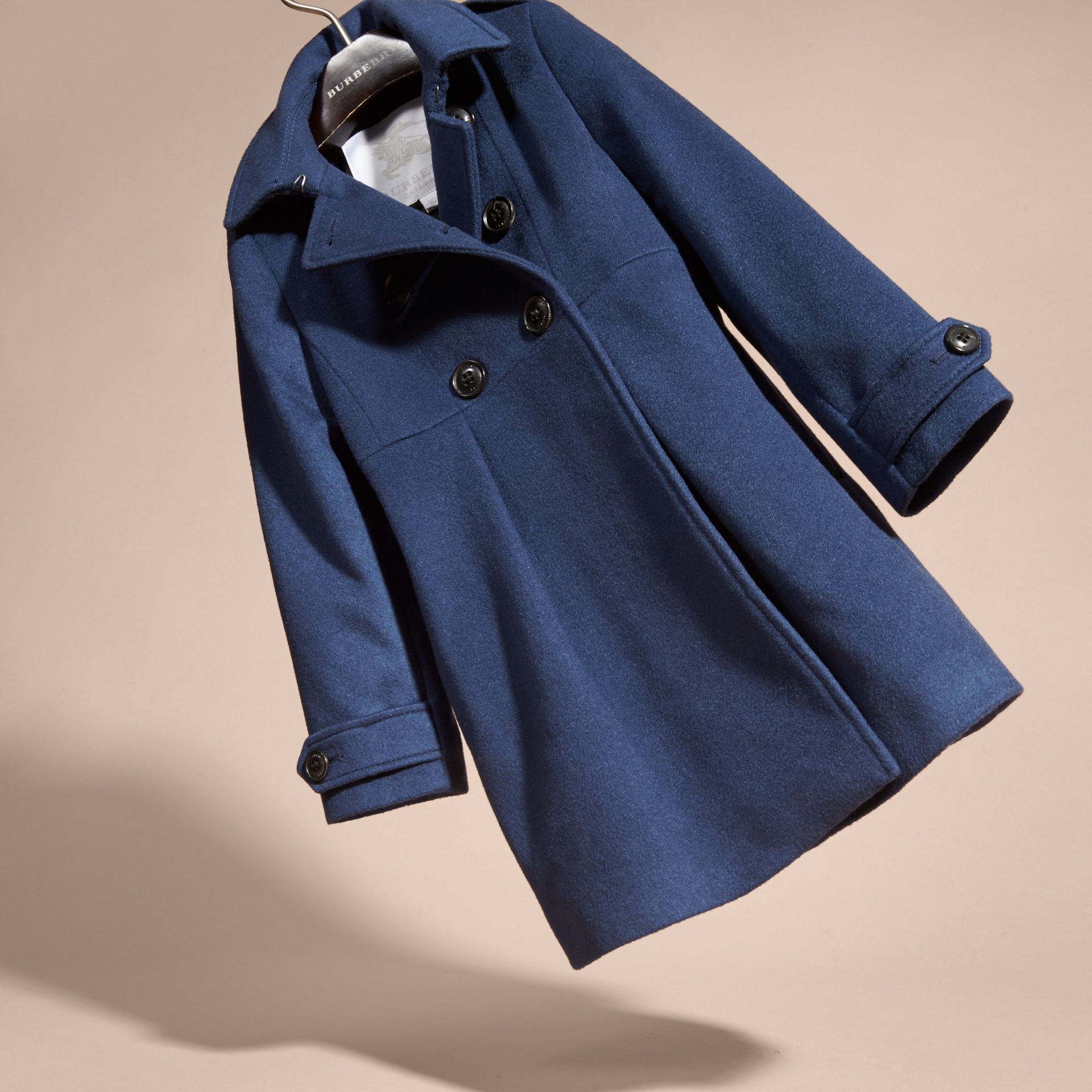 Cashmere Military Coat in Bright Navy - gallery image 3