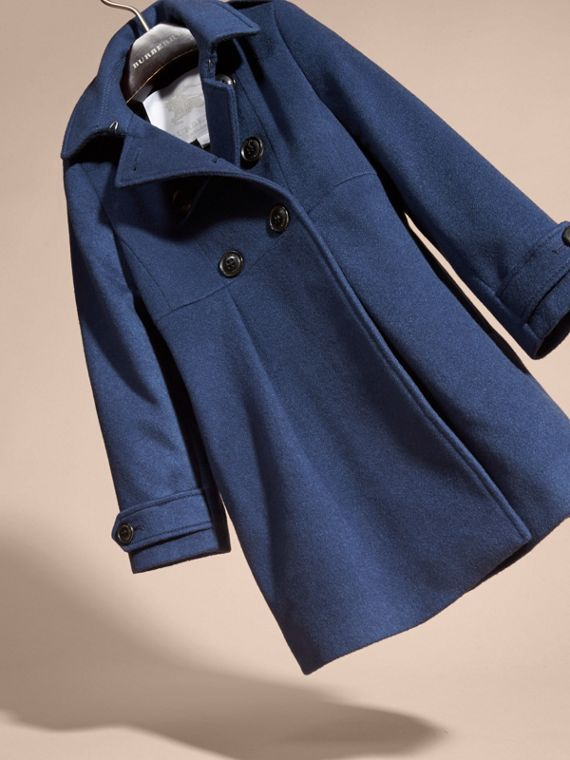 Cashmere Military Coat in Bright Navy - cell image 2