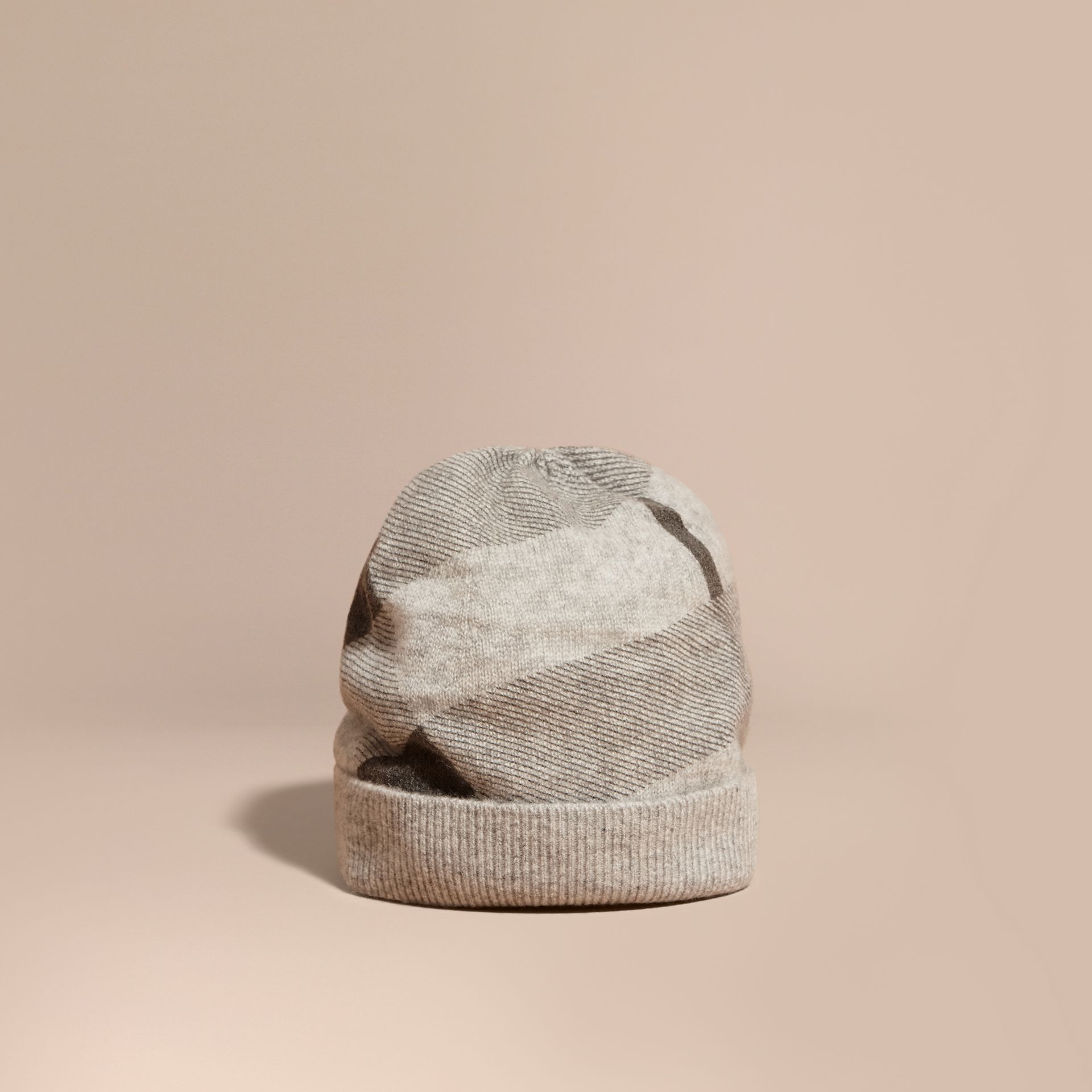 Check Cashmere Beanie - gallery image 1