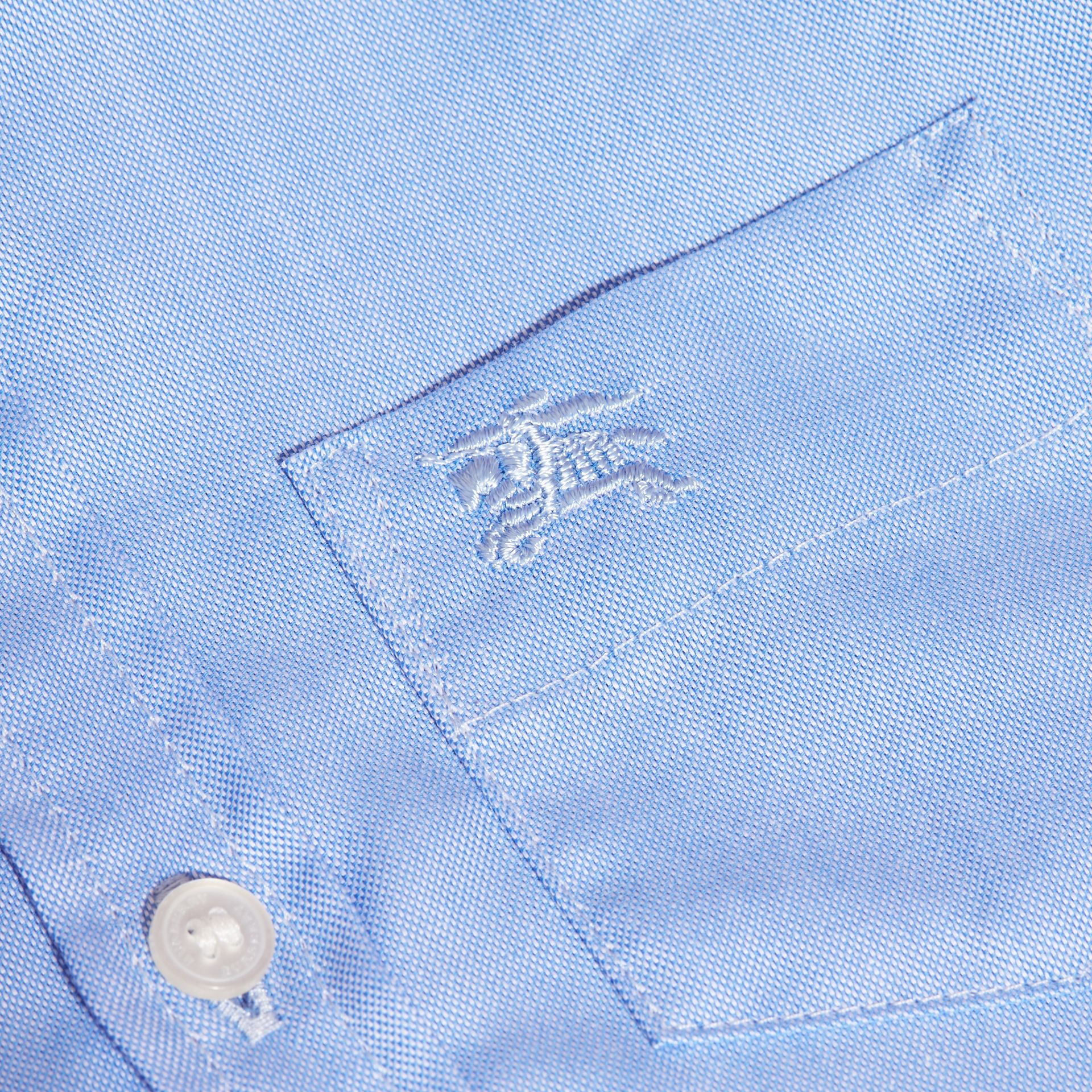 Cornflower blue Classic Oxford Shirt - gallery image 2