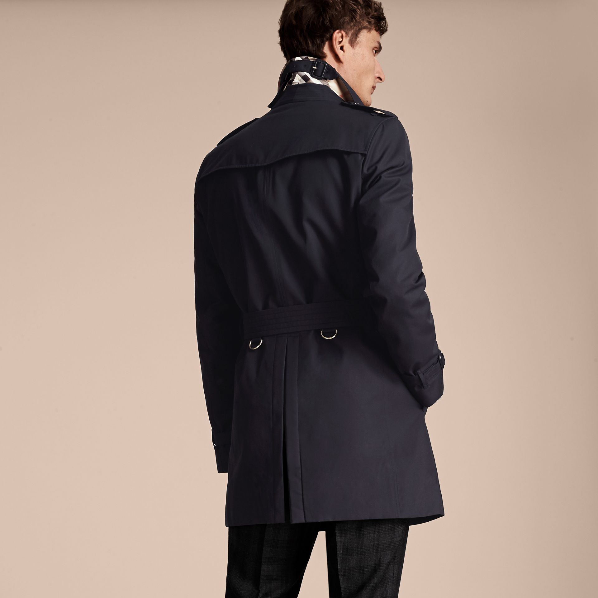 Navy The Chelsea – Mid-length Heritage Trench Coat Navy - gallery image 3