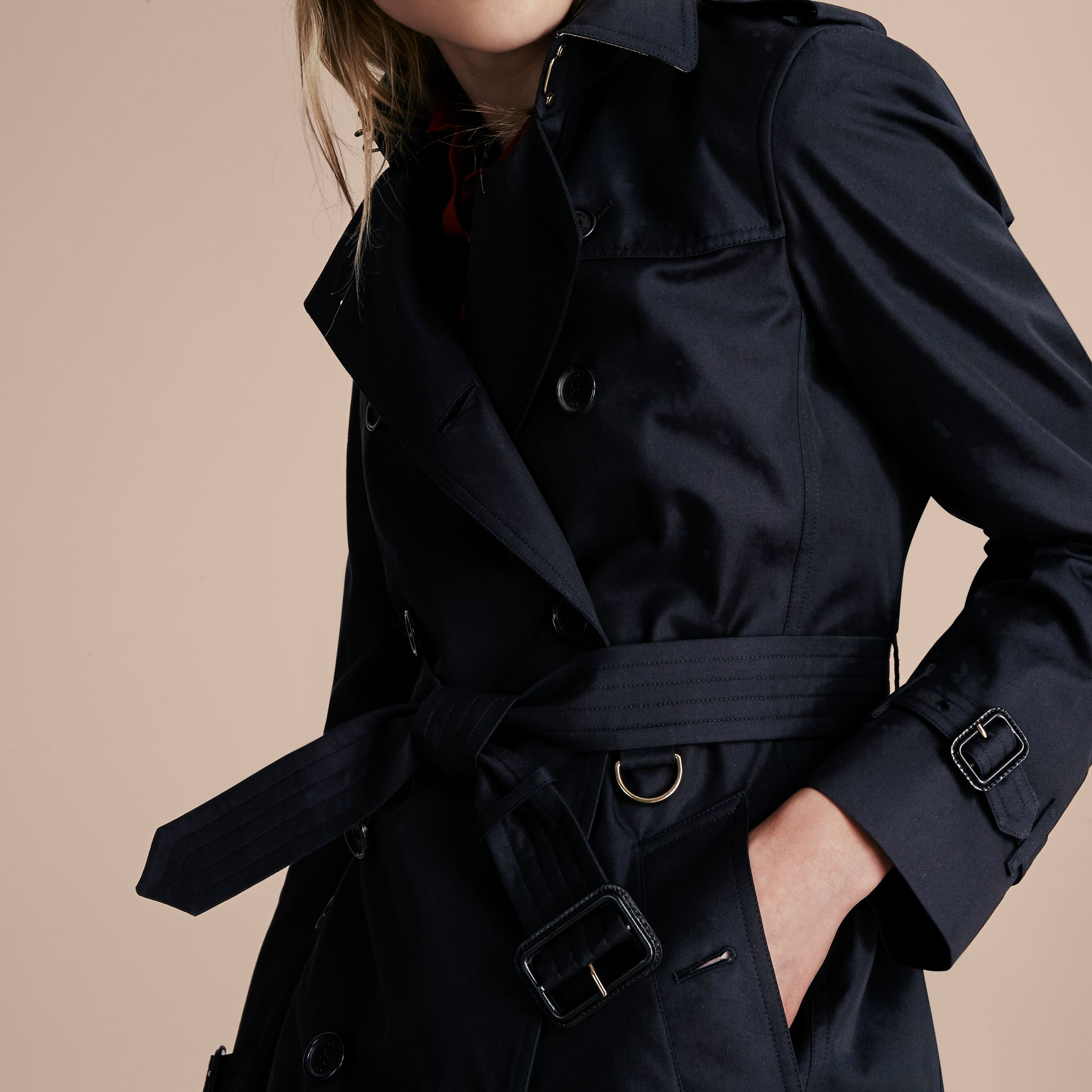 Navy The Kensington – Long Heritage Trench Coat Navy - gallery image 5