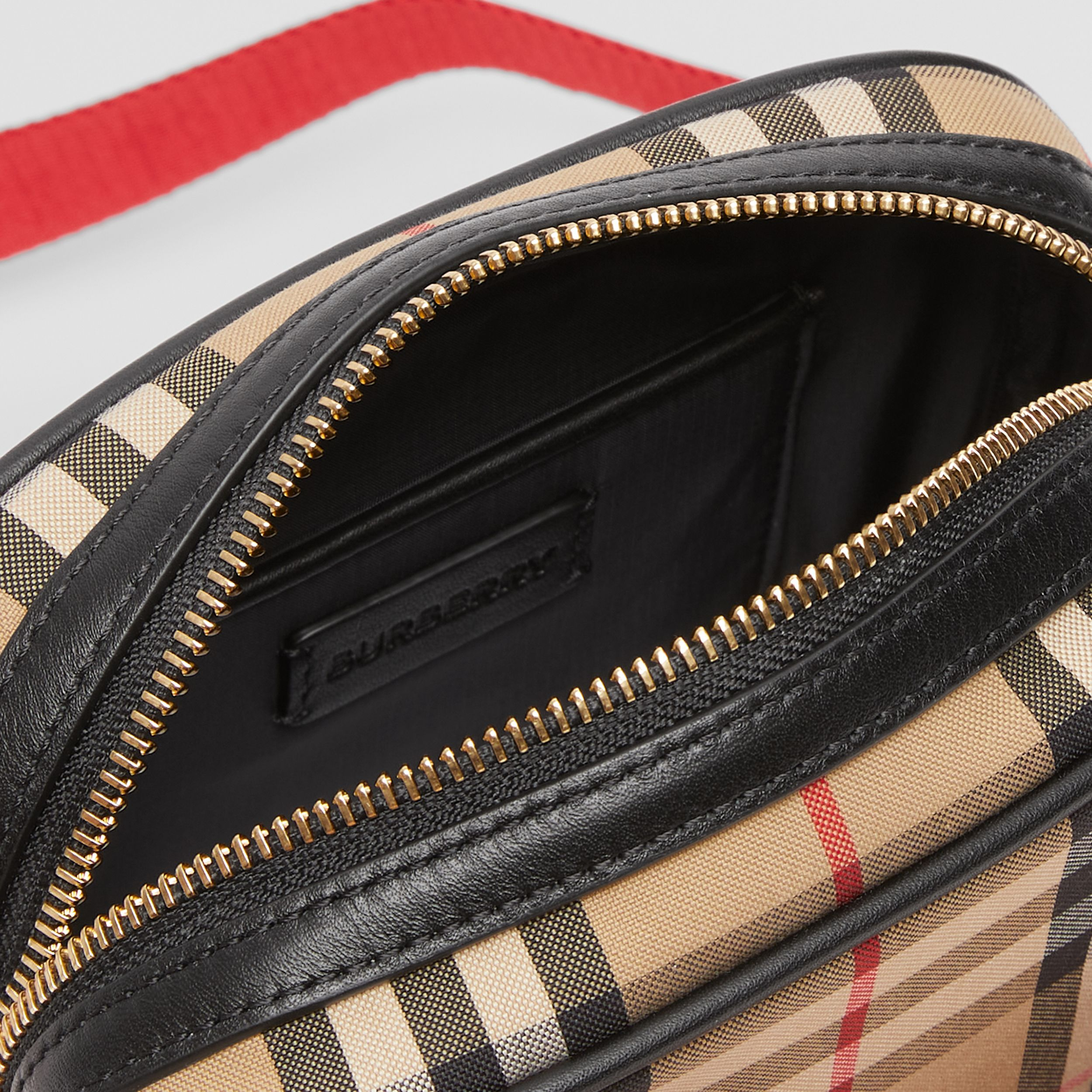 Logo Graphic Vintage Check Camera Bag in Archive Beige - Children | Burberry - 3