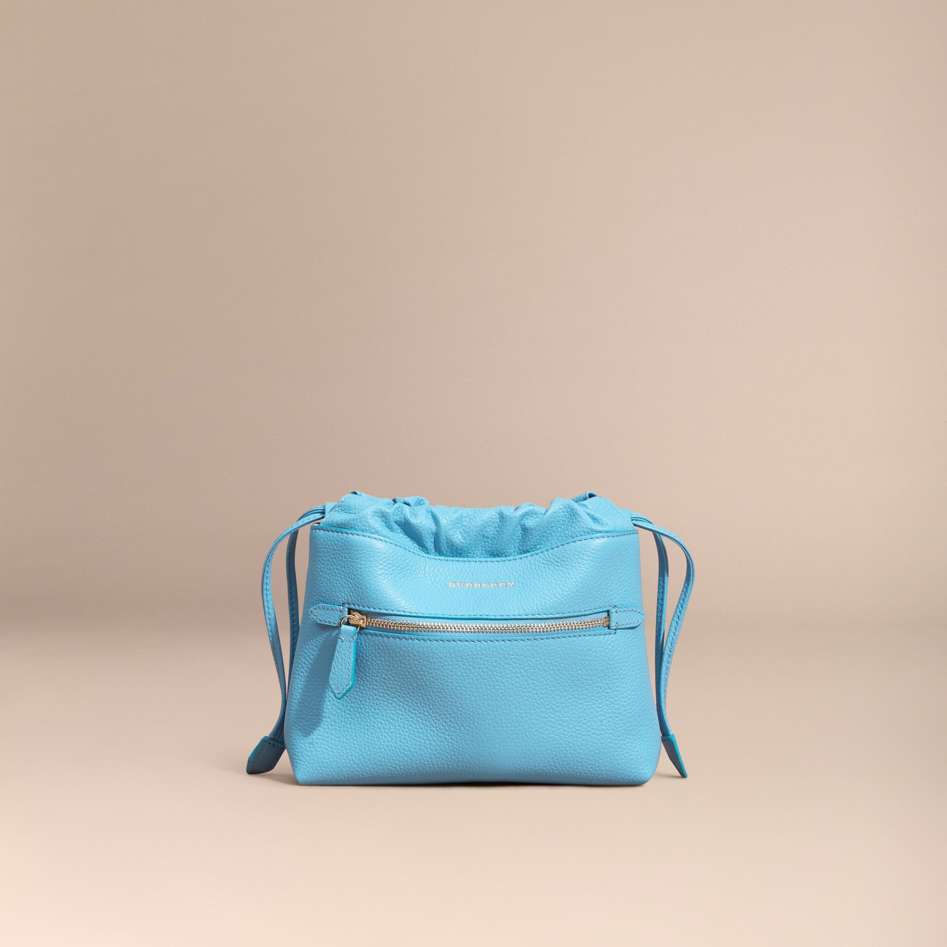 Bright mineral blue The Mini Crush in Grainy Leather Bright Mineral Blue - gallery image 5