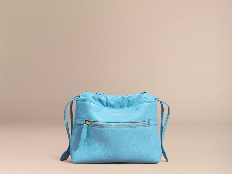 Bright mineral blue The Mini Crush in Grainy Leather Bright Mineral Blue - cell image 4
