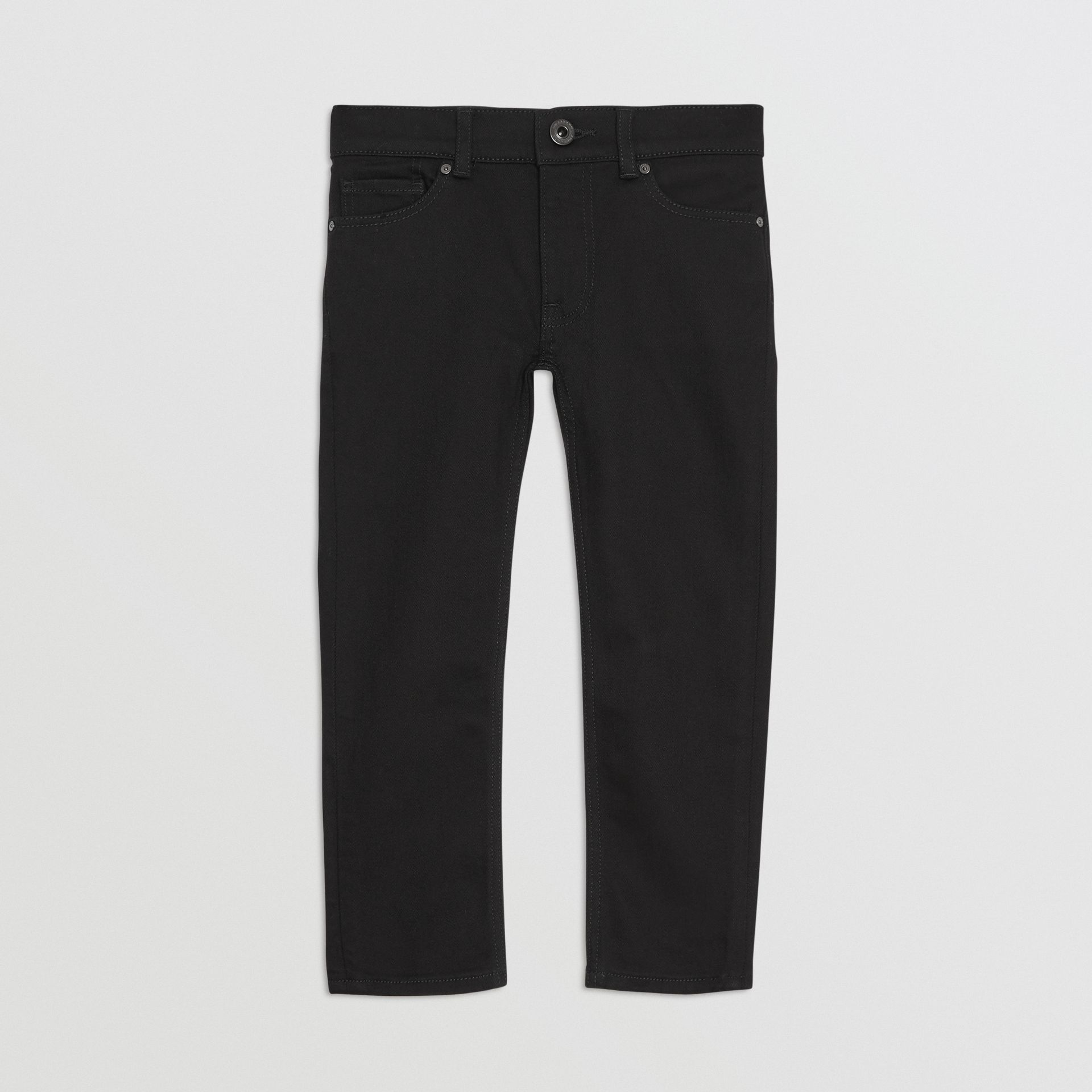 Skinny Fit Stretch Denim Jeans in Black - Boy | Burberry United Kingdom - gallery image 0
