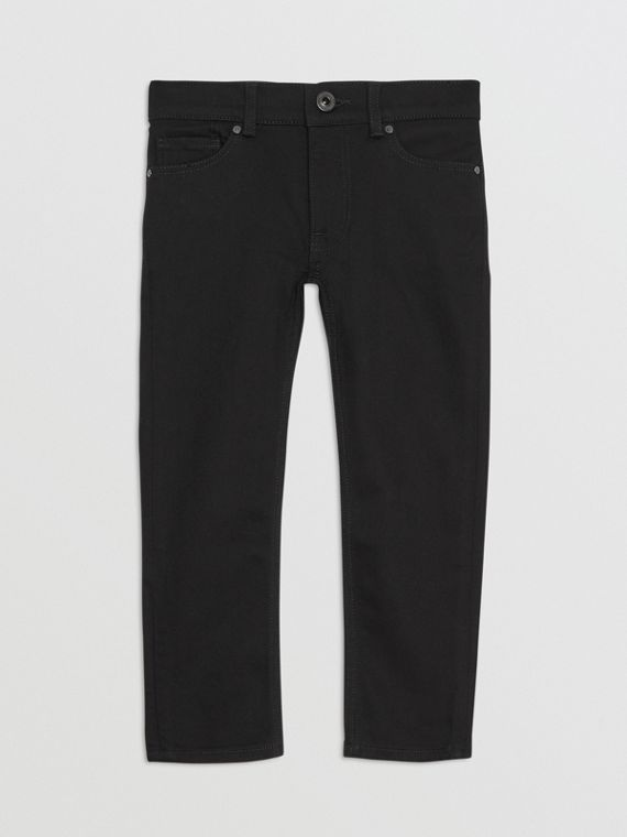 Skinny Fit Stretch Denim Jeans in Black